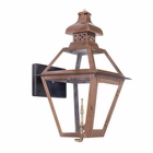 ELK Outdoor Gas Wall Lantern Bayou Collection in Solid Brass in An Aged Copper Finish. EK-7917-WP