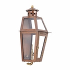 ELK Outdoor Gas Wall Lantern Grand Isle Collection in Solid Brass in An Aged Copper Finish. EK-7940-WP