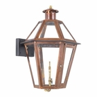 ELK Outdoor Gas Wall Lantern Grande Isle Collection in Solid Brass in An Aged Copper Finish. EK-7921-WP