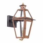 ELK Outdoor Gas Wall Lantern Grande Isle Collection in Solid Brass in An Aged Copper Finish. EK-7925-WP