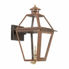 ELK Outdoor Gas Wall Lantern Grande Isle Collection in Solid Brass in An Aged Copper Finish. EK-7929-WP