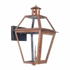 ELK Outdoor Gas Wall Lantern Grande Isle Collection in Solid Brass in An Aged Copper Finish. EK-7933-WP
