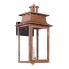 ELK Outdoor Gas Wall Lantern Maryville Collection in Solid Brass in An Aged Copper Finish. EK-7905-WP