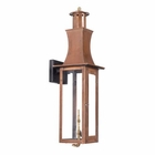 ELK Outdoor Gas Wall Lantern Maryville Collection in Solid Brass in An Aged Copper Finish. EK-7909-WP