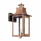 ELK Outdoor Gas Wall Lantern Maryville Collection in Solid Brass in An Aged Copper Finish. EK-7913-WP