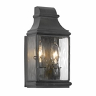 ELK Outdoor Wall Lantern Jefferson Collection in Solid Brass in A Charcoal Finish EK-701-C