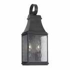 ELK Outdoor Wall Lantern Jefferson Collection in Solid Brass in A Charcoal Finish EK-702-C