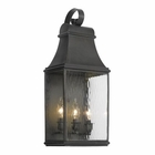 ELK Outdoor Wall Lantern Jefferson Collection in Solid Brass in A Charcoal Finish EK-704-C