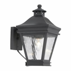 ELK Outdoor Wall Lantern Landings Collection in Solid Brass in A Charcoal Finish EK-5720-C