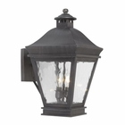 ELK Outdoor Wall Lantern Landings Collection in Solid Brass in A Charcoal Finish EK-5721-C