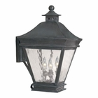 ELK Outdoor Wall Lantern Landings Collection in Solid Brass in A Charcoal Finish EK-5722-C