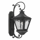ELK Outdoor Wall Lantern Manor Collection in Solid Brass in A Charcoal Finish EK-6710-C