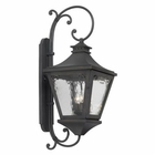 ELK Outdoor Wall Lantern Manor Collection in Solid Brass in A Charcoal Finish EK-6712-C