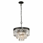 ELK Palacial Collection 3+1 Light Pendant in Oil Rubbed Bronze EK-14212-3-1