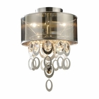 ELK Parisienne 2-Light Semi Flush in A Silver Leaf Finish EK-14061-2