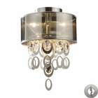 ELK Parisienne 2-Light Semi Flush in A Silver Leaf Finish With Adapter Kit EK-14061-2-LA