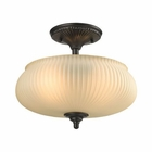 ELK Park Ridge 2 Light Semi Flush in Oil Rubbed Bronze EK-11654-2
