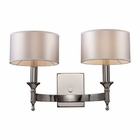 ELK Pembroke 2-Light Sconce in Polished Nickel EK-10122-2