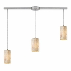 ELK Piedra 3-Light Linear Genuine Stone Pendant in Satin Nickel EK-10147-3L