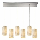 ELK Piedra 6 Light Pendant in Satin Nickel EK-10147-6RC