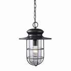 ELK Portside 1-Light Outdoor Pendant in Matte Black EK-42286-1