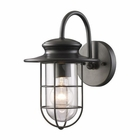 ELK Portside 1-Light Outdoor Sconce in Matte Black EK-42284-1