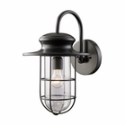 ELK Portside 1-Light Outdoor Sconce in Matte Black EK-42285-1
