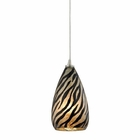 ELK Predator 1 Light Pendant in Satin Nickel EK-10445-1