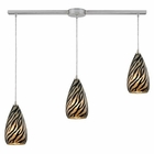 ELK Predator 3 Light Pendant in Satin Nickel EK-10445-3L