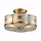 ELK Preston 2 Light Semi Flush in Brushed Brass EK-22002-2