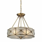 ELK Preston 4 Light Pendant in Brushed Brass EK-22004-4