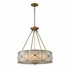 ELK Preston 6-Light Pendant in Brushed Brass EK-22001-6