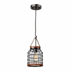 ELK Purcell 1 Light Pendant in Weathered Iron EK-14306-1