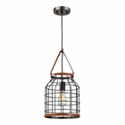 ELK Purcell 1 Light Pendant in Weathered Iron EK-14307-1