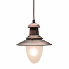 ELK Railroad 1-Light Pendant in Antique Copper EK-010-AC