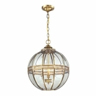 ELK Randolph 3 Light Pendant in Brushed Brass EK-22021-3