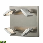 ELK Reilly Collection 4 Light Sconce in Brushed Nickel/Brushed Aluminum EK-54013-4