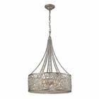 ELK Renaissance 6 Light Pendant in Sunset Silver EK-16244-6