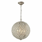 ELK Renaissance  Collection 8 Light Pendant in Sunset Silver EK-16240-8