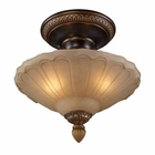 ELK Restoration 3-Light Semi Flush in Golden Bronze EK-08092-AGB