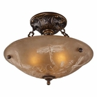 ELK Restoration 3-Light Semi Flush in Golden Bronze EK-08096-AGB