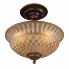 ELK Restoration 3-Light Semi Flush in Golden Bronze EK-08097-AGB