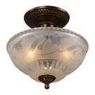 ELK Restoration 3-Light Semi Flush in Golden Bronze EK-08098-AGB