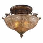ELK Restoration 3-Light Semi Flush in Golden Bronze EK-08099-AGB