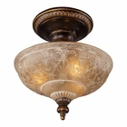 ELK Restoration 3-Light Semi Flush in Golden Bronze EK-08100-AGB