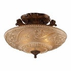 ELK Restoration 3-Light Semi Flush in Golden Bronze EK-08101-AGB