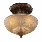 ELK Restoration 3-Light Semi Flush in Golden Bronze EK-08103-AGB