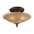 ELK Restoration 4-Light Semi Flush in Golden Bronze EK-08093-AGB
