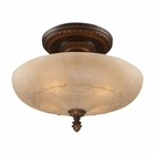 ELK Restoration 4-Light Semi Flush in Golden Bronze EK-08095-AGB