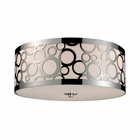 ELK Retrovia 3-Light Flush Mount in Polished Nickel EK-31024-3